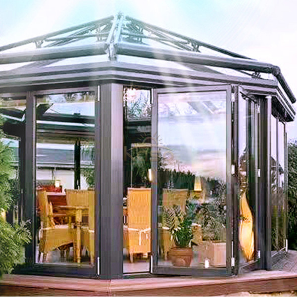 Customized Custom Curved Easy Assembly Sunroom