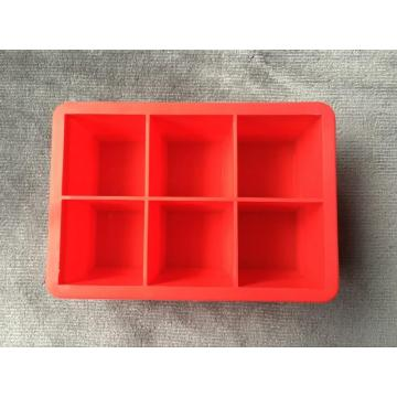 Rectangular six-lattice silicone mold