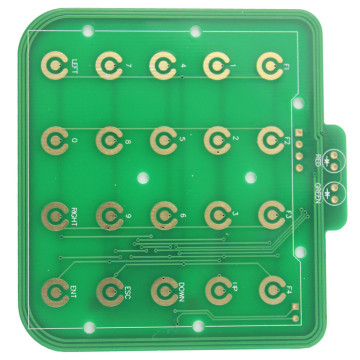 Pressing keyboard double layers circuit board