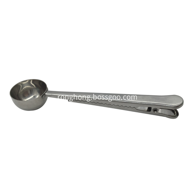 Stainless Steel Coffee Scoop With Clip 3