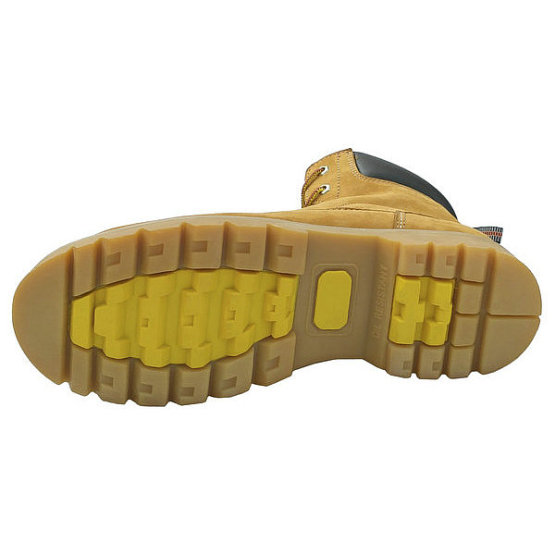 Nubcuk Leather Goodyear Rubber Sole Safety shoes