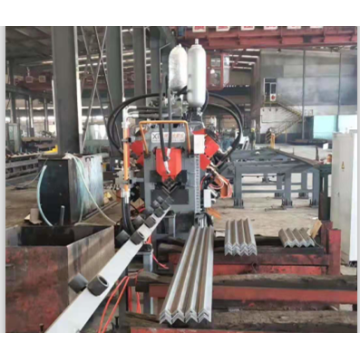 CNC Steel Angle Flange Punching Shearing Production Line