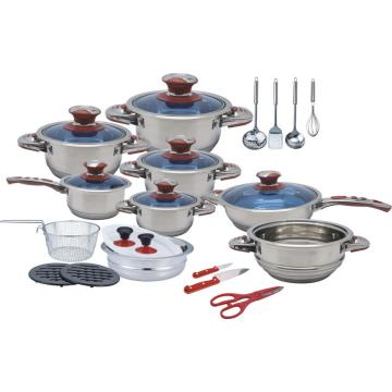 Popular 27pcs wide edge cookware set