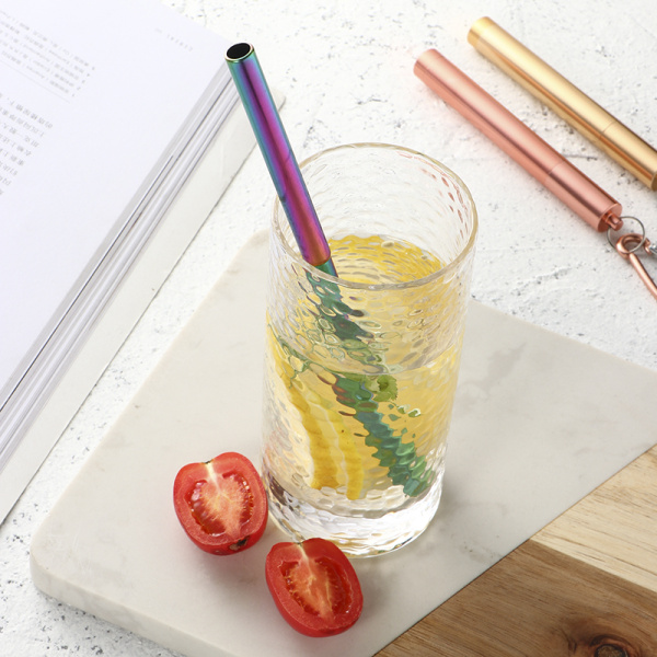 Reusable Metal  Folding Telescopic Drinking Straw Set