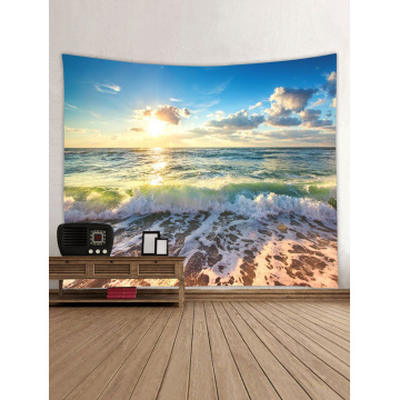 Tapestry Wall Hanging Ocean Sea Wave Beach Series Tapestry Sunrise Sunset Tapestry for Bedroom Home Dorm Decor