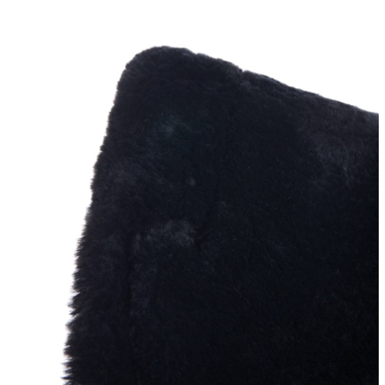 High Quality Sheepskin Quilt Half Saddle Pad Black