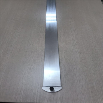 Micro channel oval aluminum tube with connector