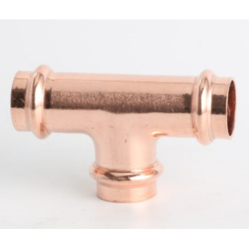 Copper v type press fitting 90 elbow