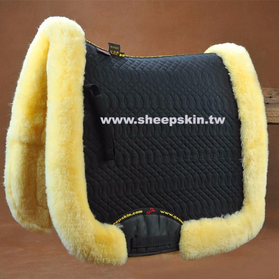 Horse riding equestrian sheepskin products full saddle pad