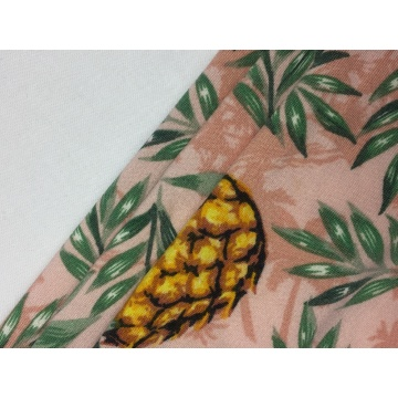 DTY Brushed Pineapple Print Fabric