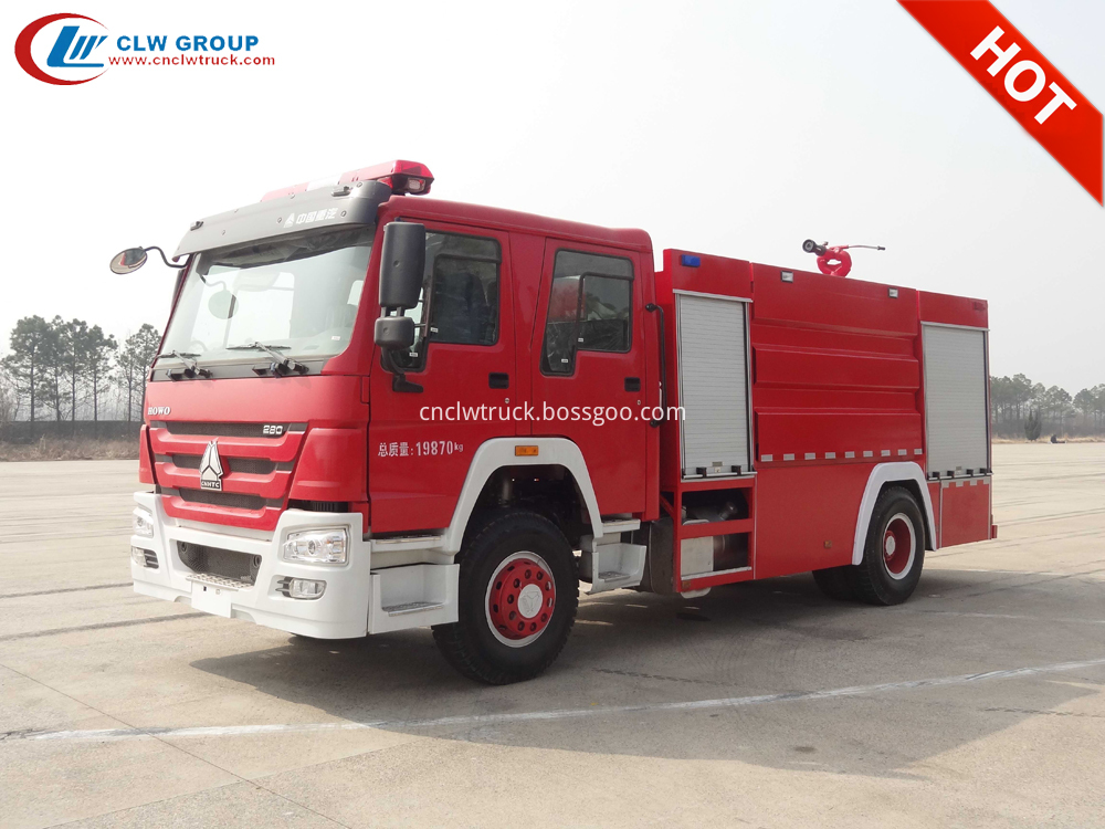 sino howo fire fighting truck