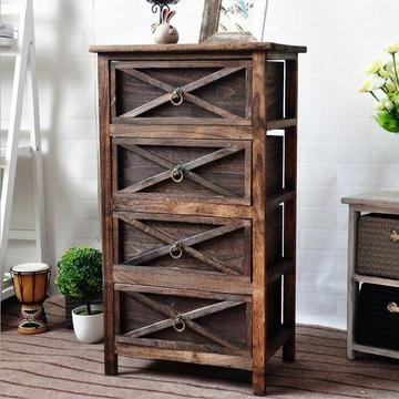 Unfinished Furniture Wicker Side Wooden Rattan Corner Cabinet