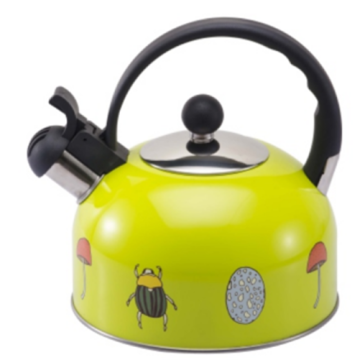 1.5L color painting Teakettle yellow color