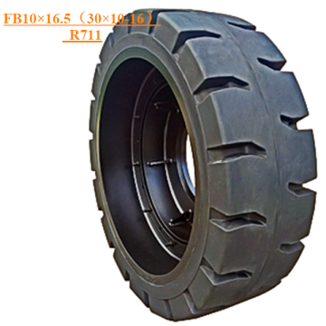 Solid Skid Steer Tire FB10×16.5 (30×10-16) Pattern R711