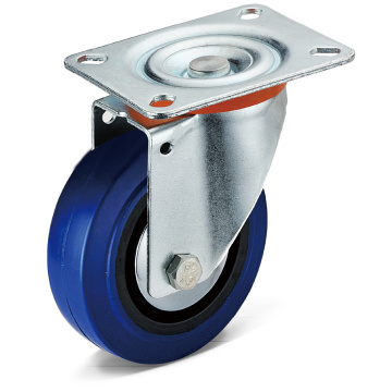 13 Series Elastic Rubber Flat Bottom Caster Wheels