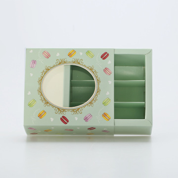 Food packaging paper box for macarons