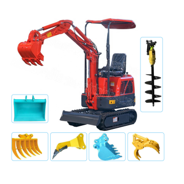 High performance mini excavator for agricultural machinery