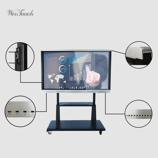 70 inches smart whiteboard with mobile stand