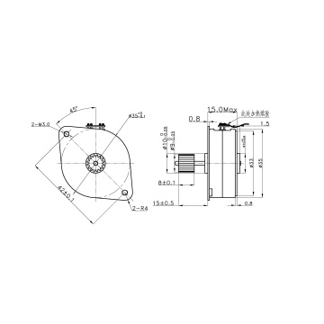 24v gear dc stepping motors for Attendance machine
