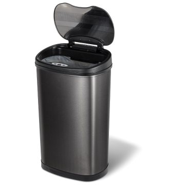 New Design Public Stainless Steel Induction Trash Can Black