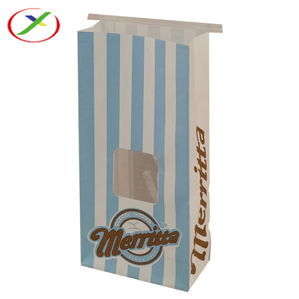 kraft paper popcorn window bag