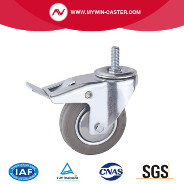 Europe type Rubber Wheel Thread Stem Industrial Caster