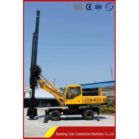 Wheel type square rod rotary drilling rig DL-360