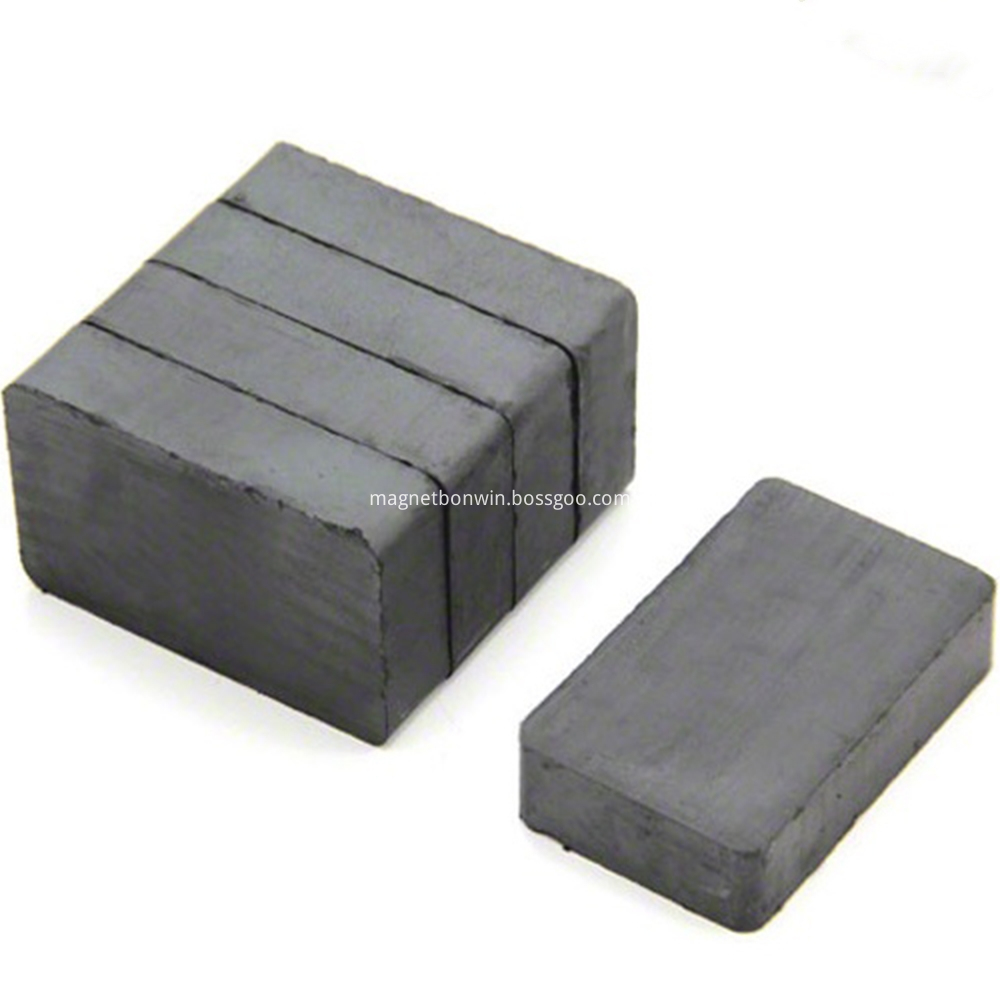 Block ceramic magnet