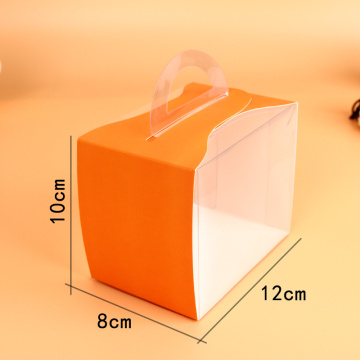 Mini plastic cake slice box