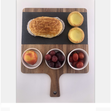 Wooden breakfast tray acacia wood