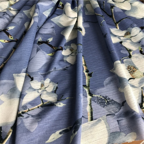 polyester strench jacquard printed knitting fabric