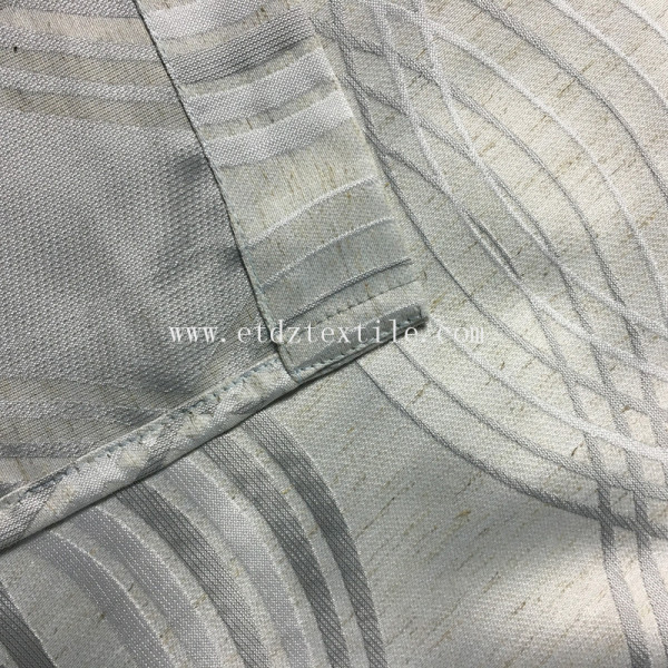 HOT LINEN LIKE JACQUARD DESIGN OF SOFT TEXTILE FABRIC