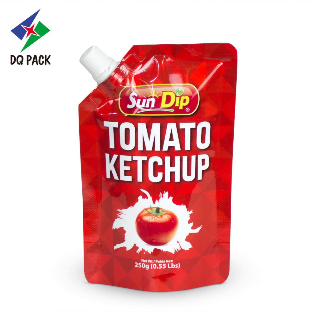 Stand Up Pouch With Spout Filled Tomato Ketchup