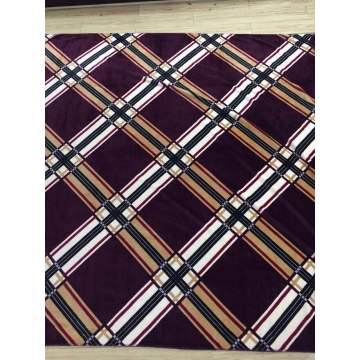 100% polyester classic check designs flannel blanket
