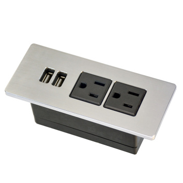 US Dual Power Outlets With USB Port Home