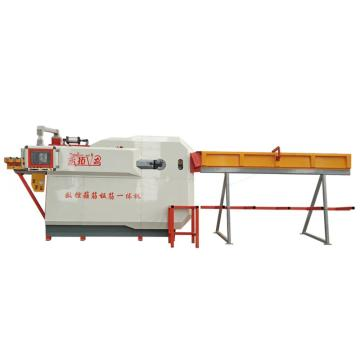 Automatic CNC hook straightening steel bar rib machine