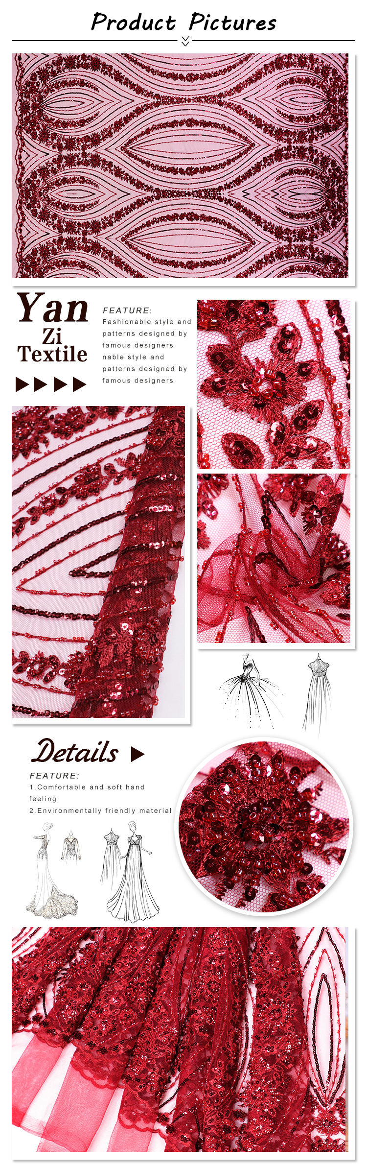 wine red lace