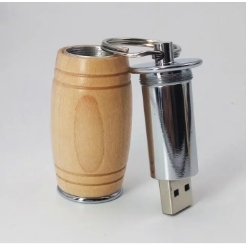 wine drum wooden usb drive 32GB