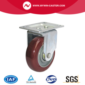 Rubber Wheel Plate Industrial Caster