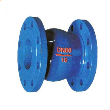 Vertical noise eliminating spring stop check valve