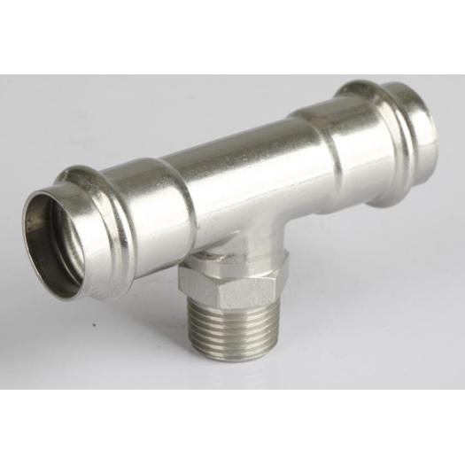 Stainless steel 304 v-profile tee press fitting