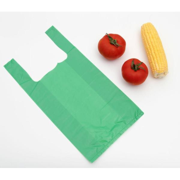 HDPE Polyethylene T-Shirt Bag in Green