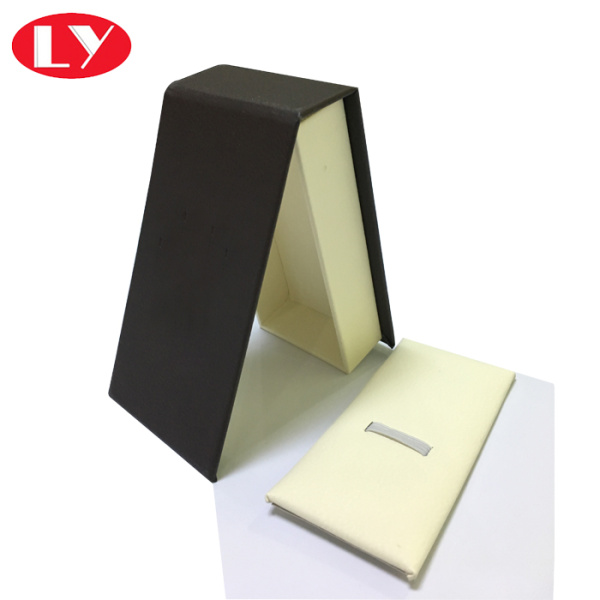 PU luxury watch box with leather inlay