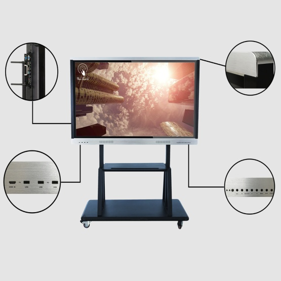 75 inches AI touch panel with mobile stand
