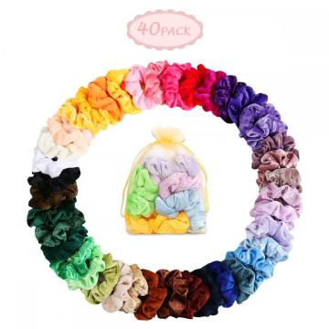 Hair Scrunchies Velvet Hair Ties Elastics Hair Bands
