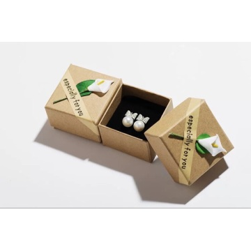 Earring packaging storage box with lid