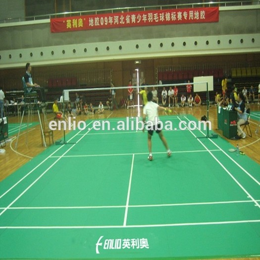 Enlio PVC Sports flooring BWF ITTF approved