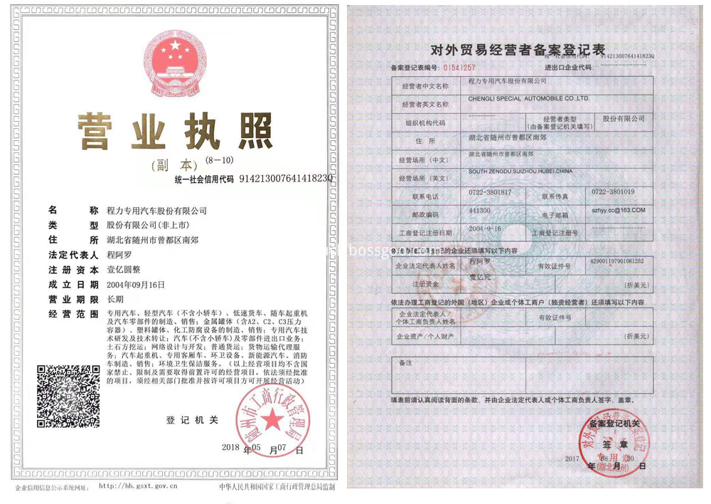 CLW business certificate