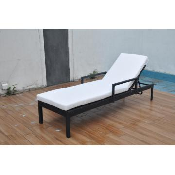 1pc patio rattan weaving sun lounger leisure