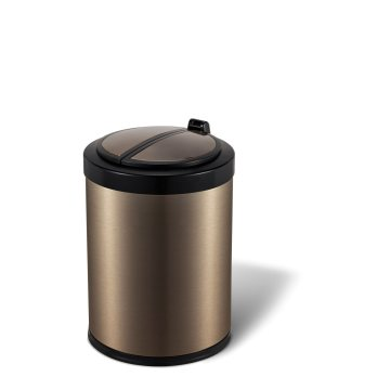 Touch-Less Hotel Round Sensor Trash Can 12 L/3.17 Gallon